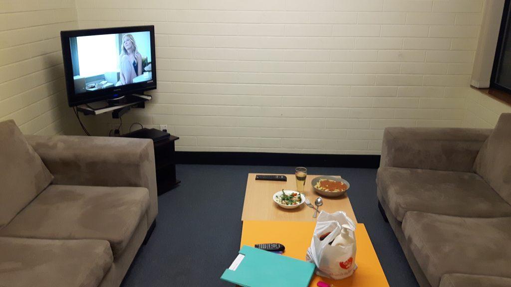 PJ Tertial in Adelaide (Australien) – Unterkunft in den FMC flats - Gemeinschaftsraum