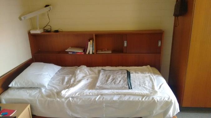 PJ Tertial in Adelaide (Australien) – Unterkunft in den FMC flats - Schlafzimmer