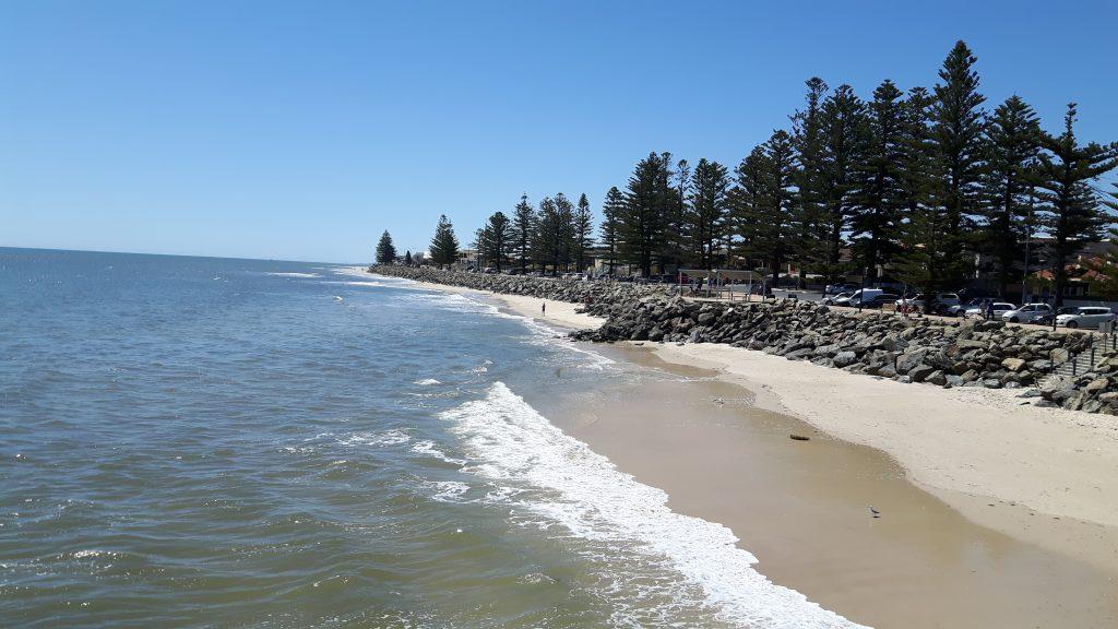 PJ in Australien (Adelaide) - Freizeitaktivitäten - Brighton Beach