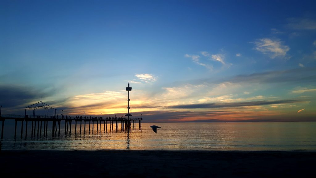 PJ in Australien (Adelaide) - Freizeitaktivitäten - Sunset