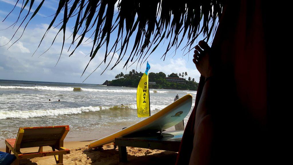 PJ in Sri Lanka (Galle) - Freizeitaktivitäten - Surfing