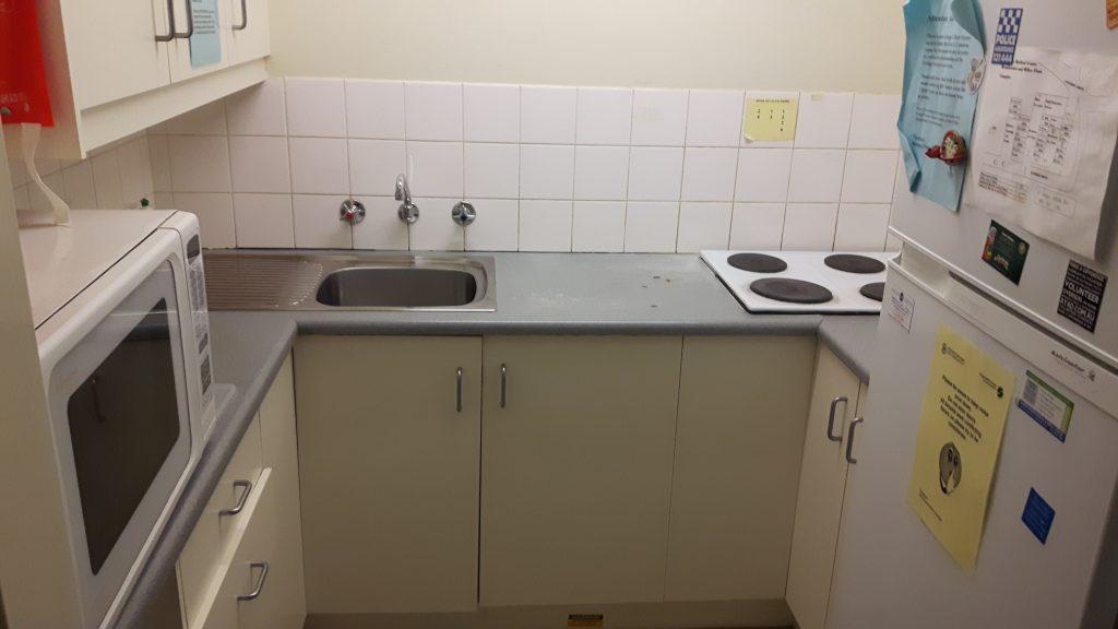 PJ Tertial in Adelaide (Australien) – Unterkunft in den FMC flats - Küche