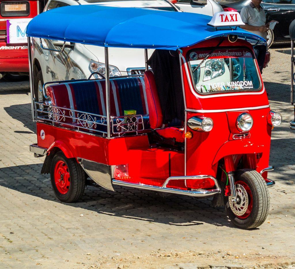 PJ in Sri Lanka (Galle) - Freizeitaktivitäten - Transport im Tuk Tuk